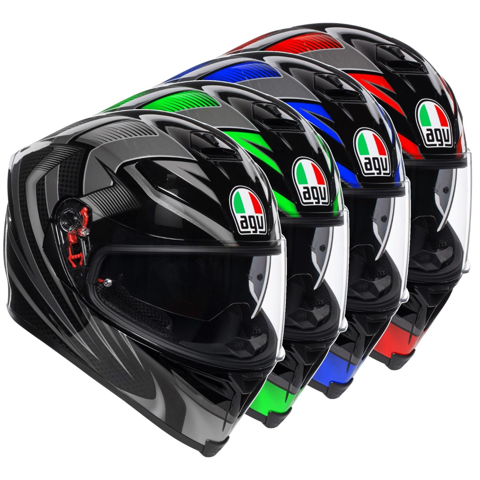 AGV K5-S Hurricane 2.0 Red Full Face Motorcycle Motorbike Sports Helmet