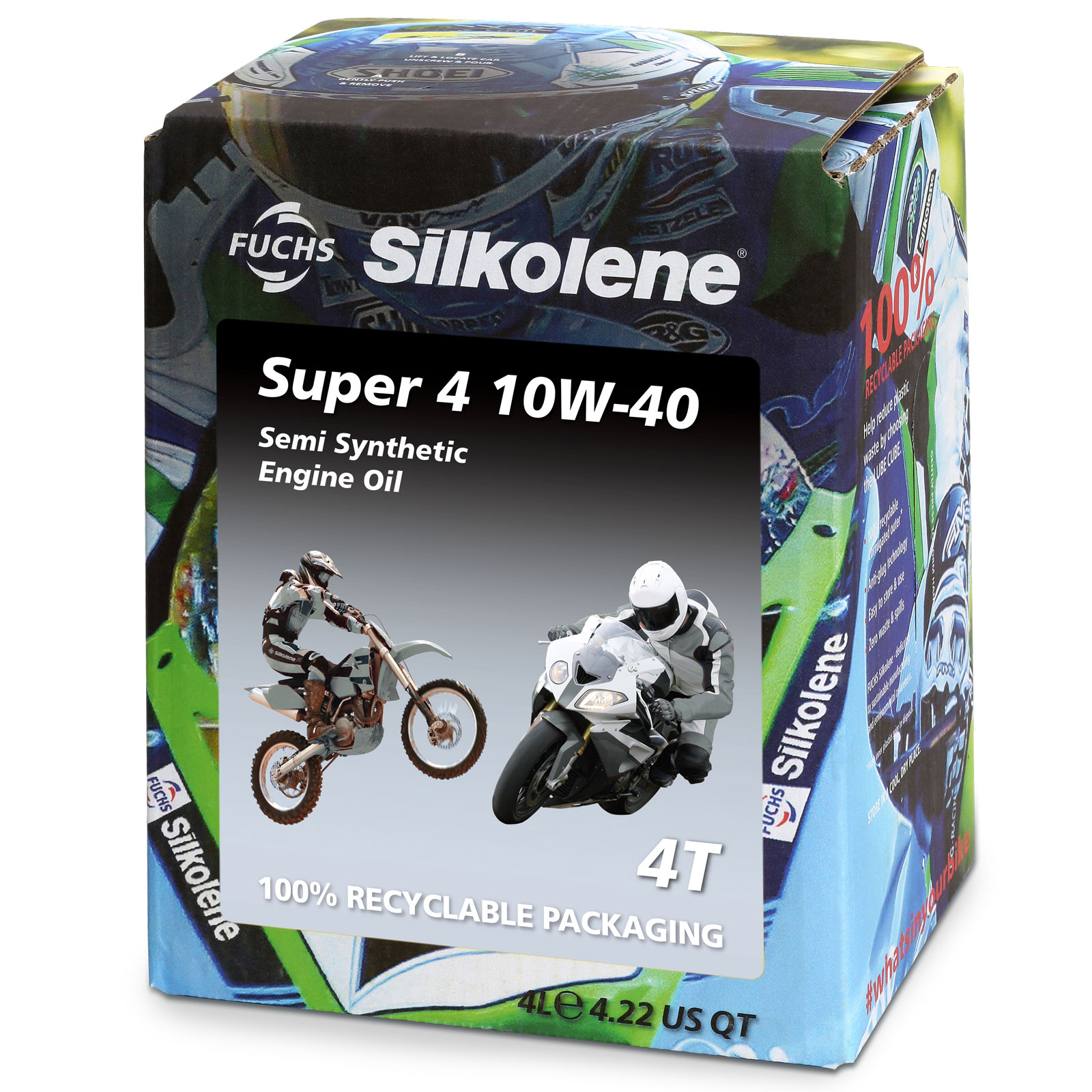 Silkolene Super4 10w40 MC-Synthetic 4 Litre