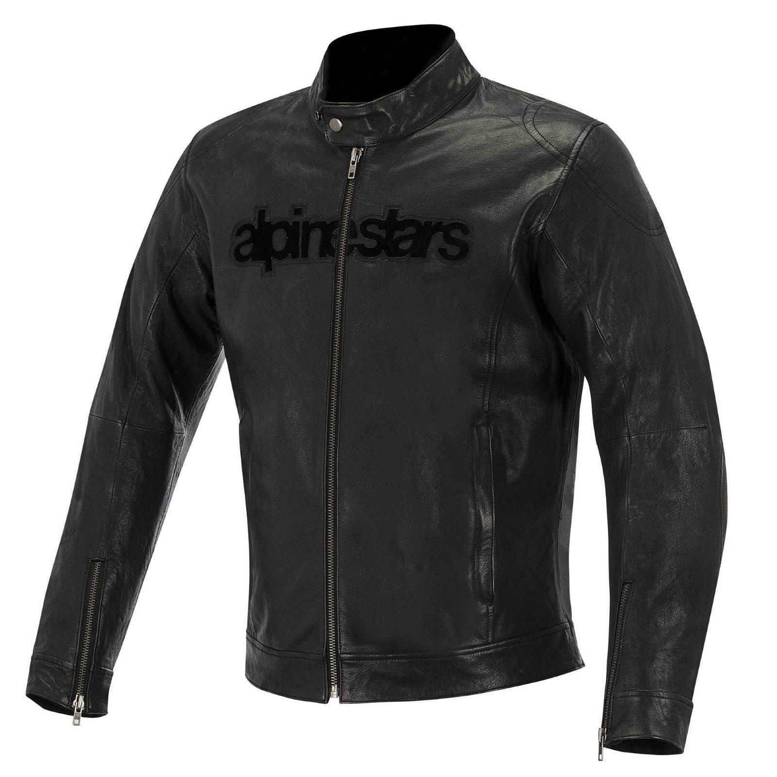 Alpinestars Leather Jacket >> Alpinestars Huntsman Leather Jacket Black M P Direct