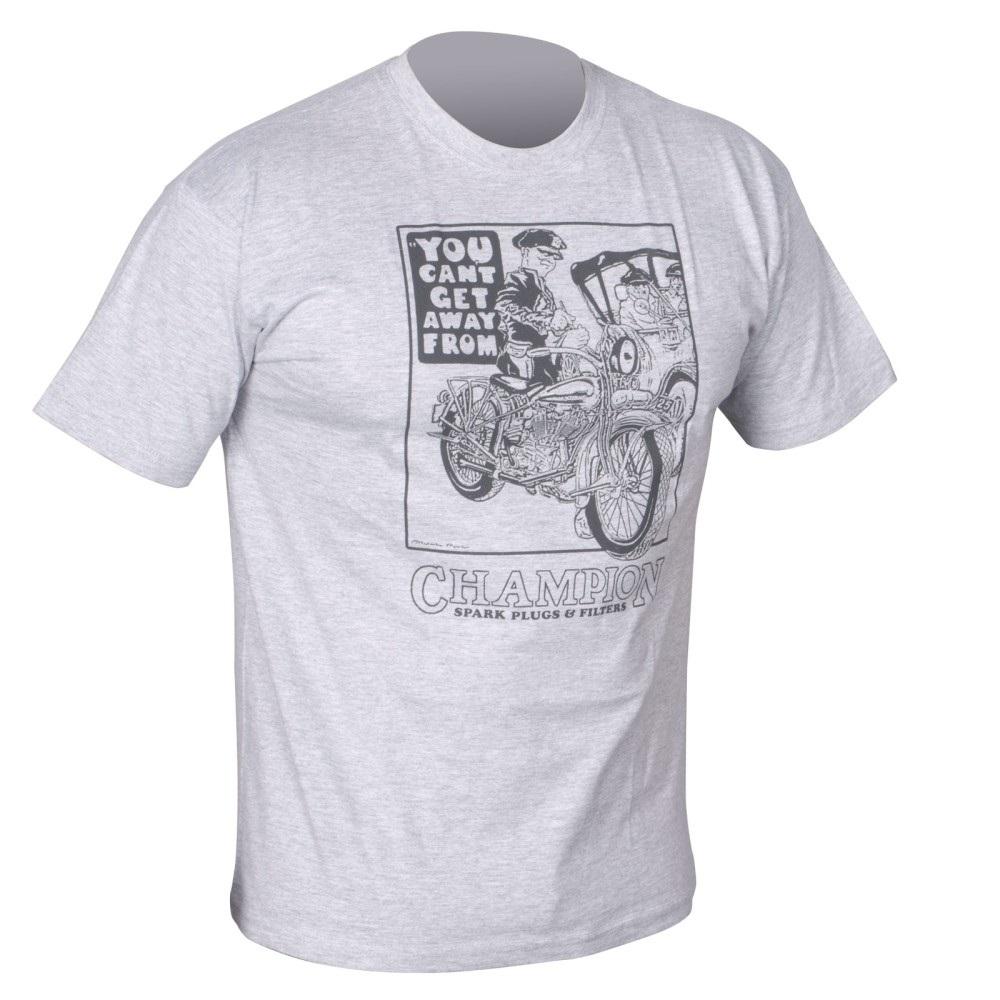 Champion Classic Get Away Grey T-Shirt Small