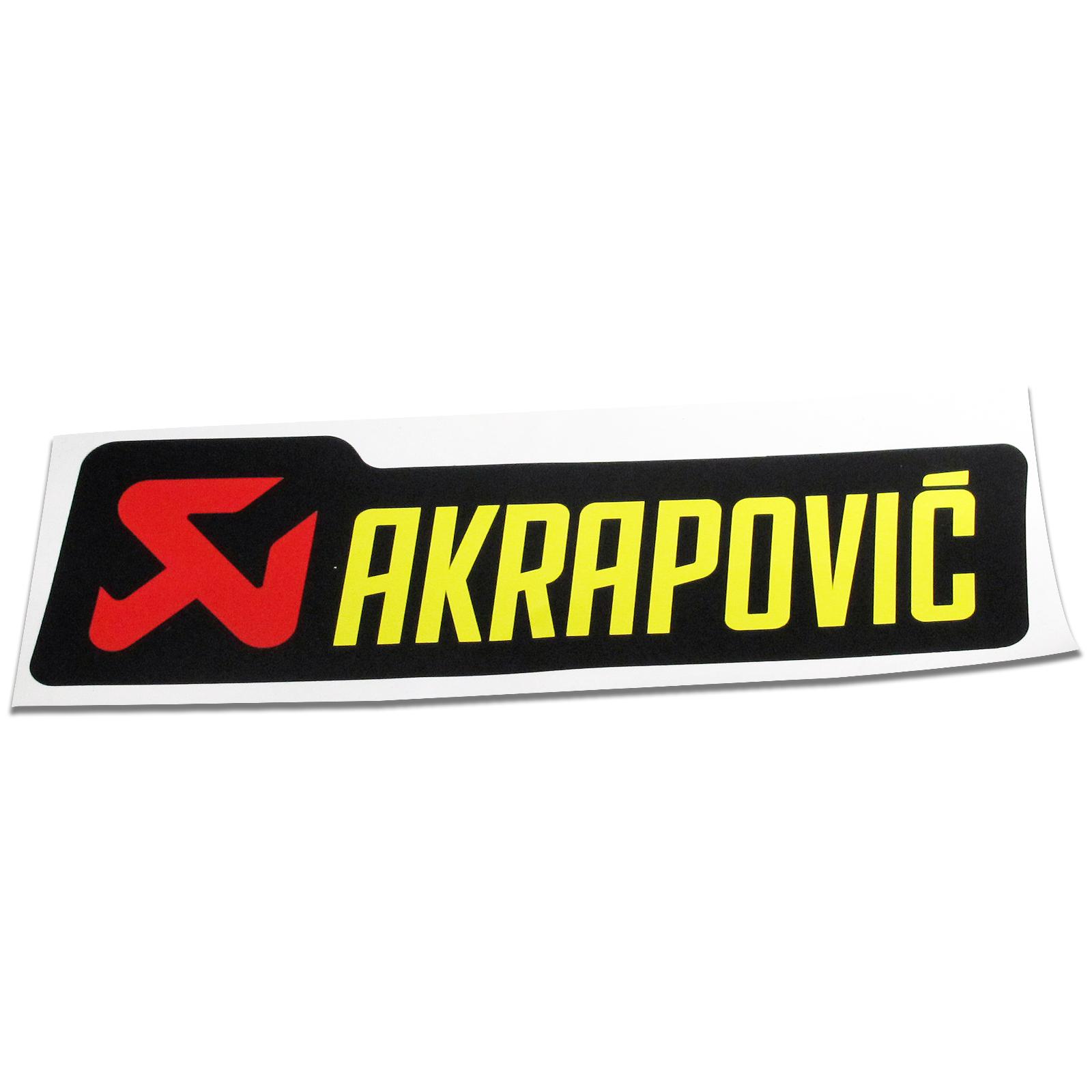 Akrapovic titanium can sticker 150mm mp direct