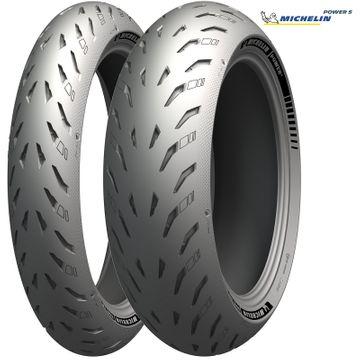 Michelin Power 5 Tyre Pair 120/70 ZR17   180/55 ZR17 image 1
