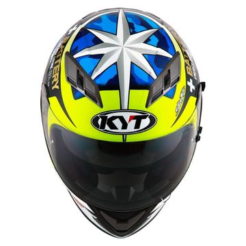 9f76ebb6f242eb KYT Falcon Espargaro Replica Full Face Helmet image 2. ‹ › ‹ ›