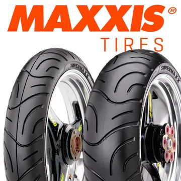 Maxxis Supermaxx Touring Tyre Pair 120/70 ZR17   180/55 ZR17 image 1