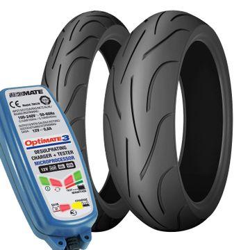 120/70 190/55 ZR17 Michelin Pilot Power Pair - Free Optimate 3 image 1