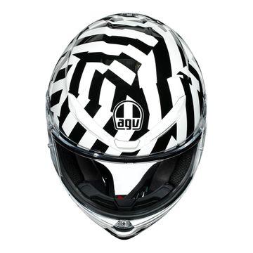 Agv K6 Secret Black White Full Face Helmet M P Direct