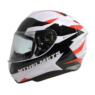 MT Targo Enjoy White Black Red Full Face Helmet image 1
