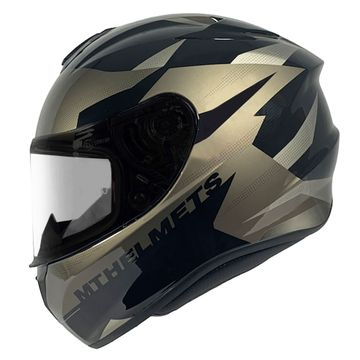 MT Targo Enjoy Black Grey Full Face Helmet image 1