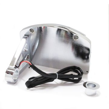 Custom Side Number Plate Kit 1in Axle Chrome image 1