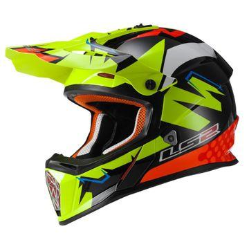 LS2 MX437 Fast Vinales Replica Motocross Helmet image 1